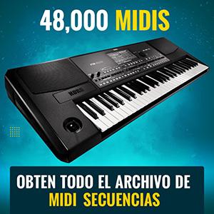 Obten todo el archivo de MIDI SECUENCIAS por solo $20USD